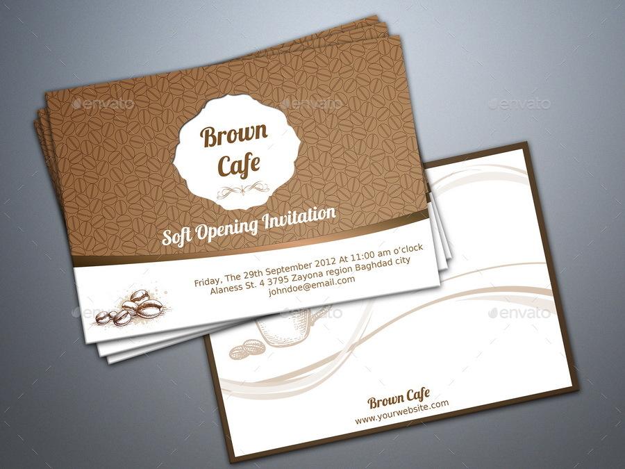 Soft Opening Invitation Card