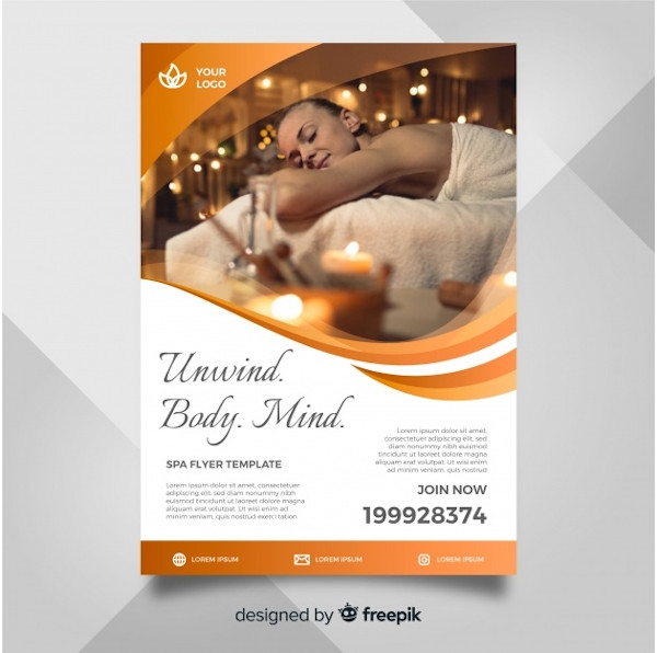 Spa Flyer InDesign