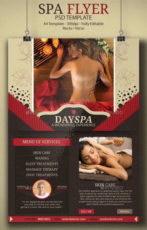 Spa Flyer PSD Template