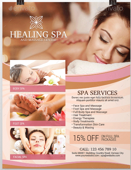 Spa Services Flyer