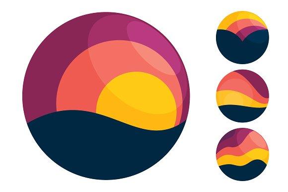 Sunset Travel Icons