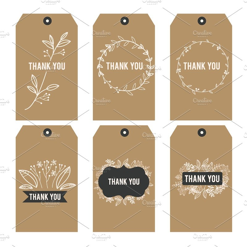 Thank You Printable Tags