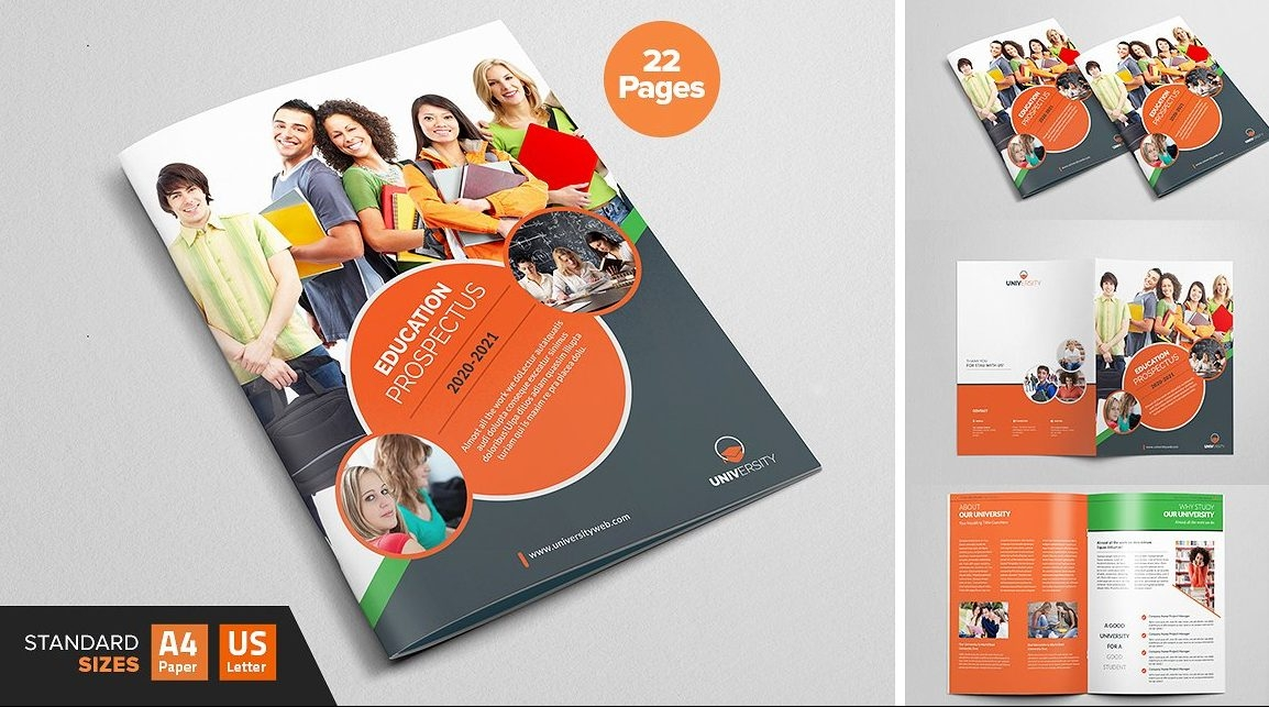 University Prospectus Magazine Template