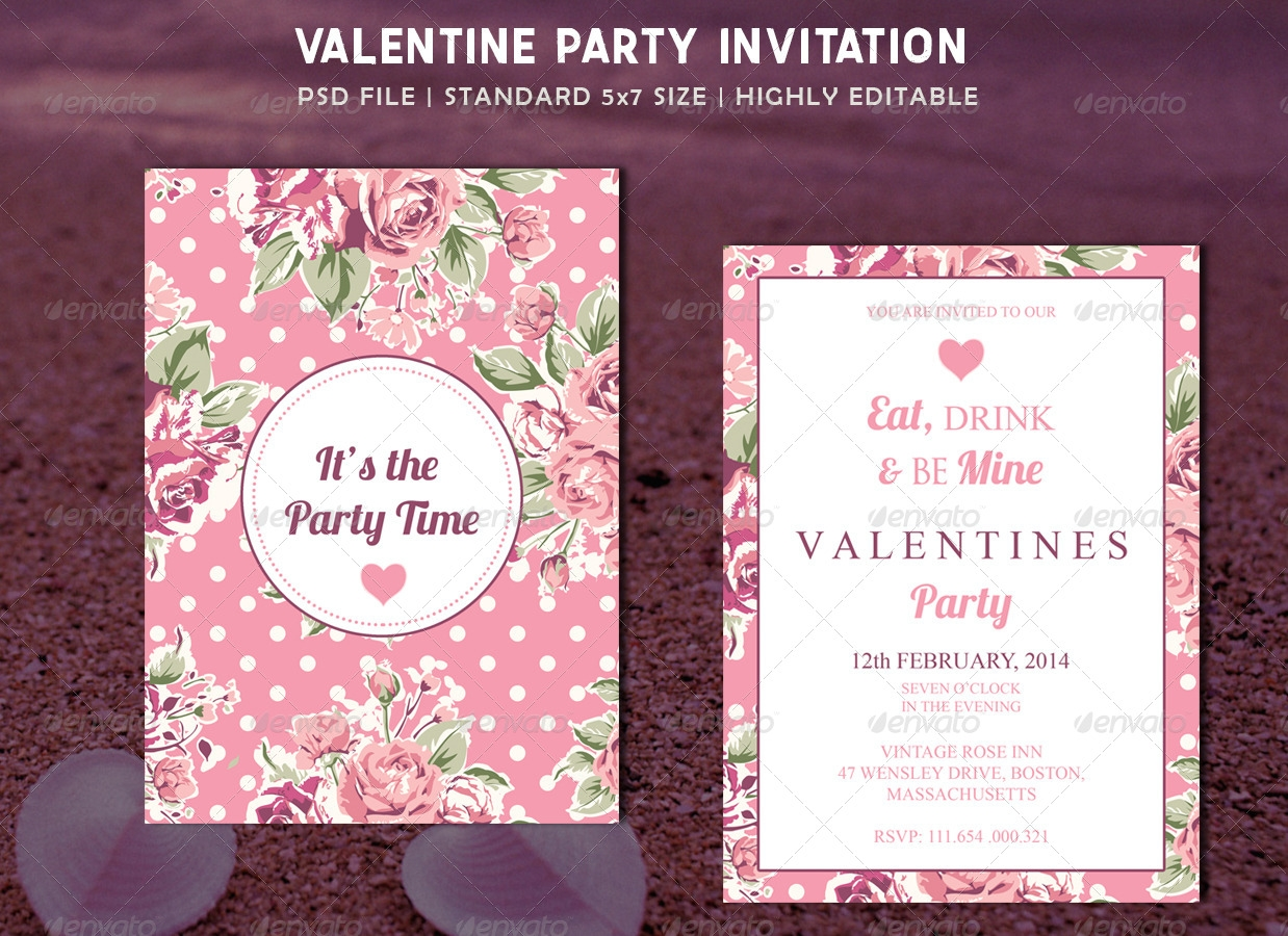 Valentines Party Invitation Card