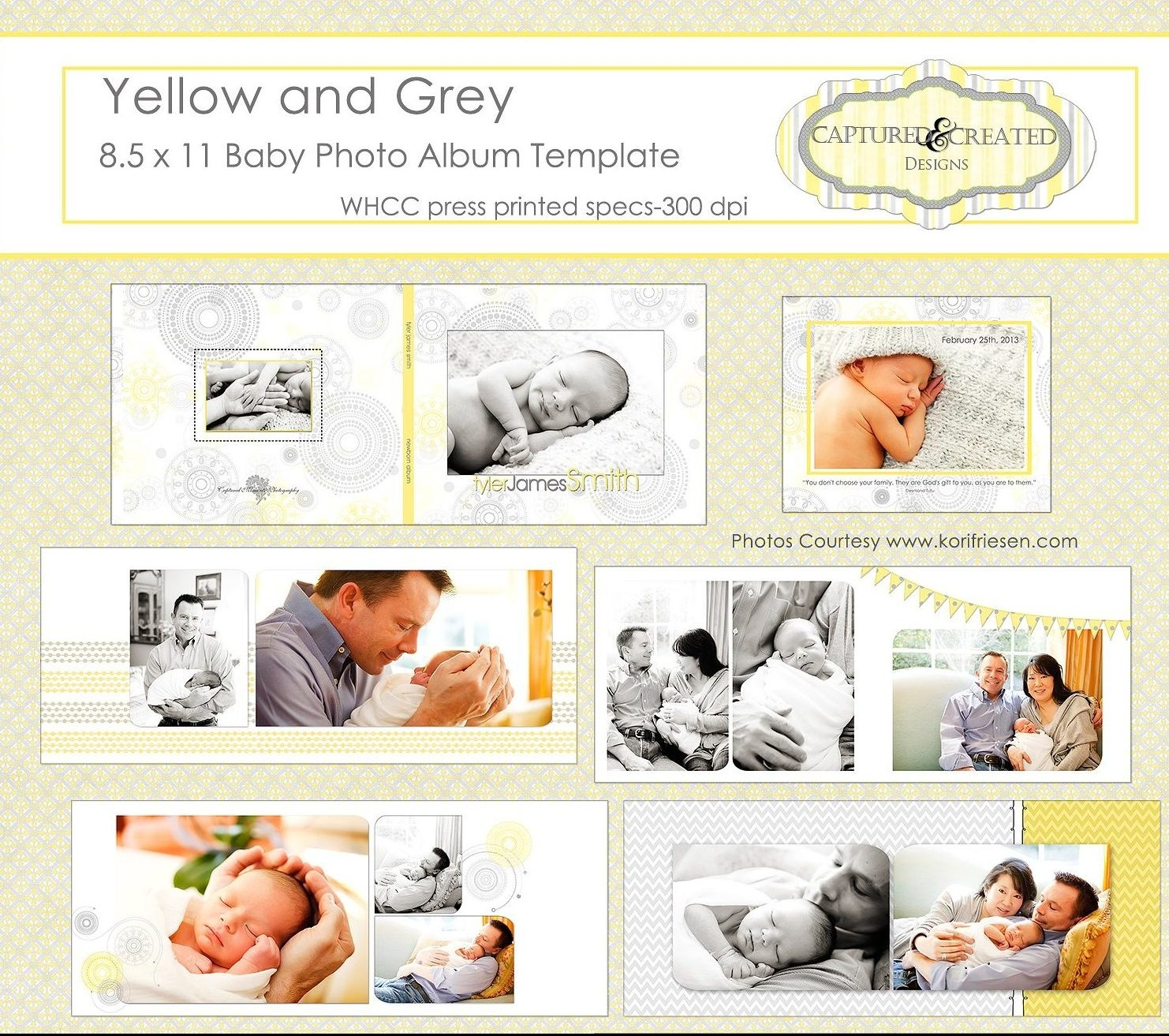 yellow and grey baby photo album template e1503484258384