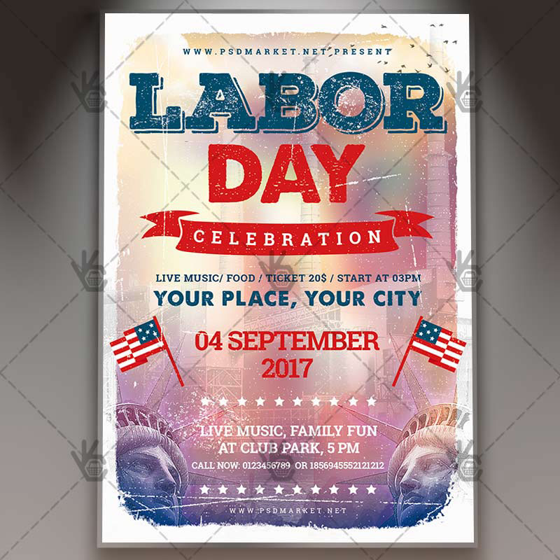 Labor Day Premium Flyer PSD Template