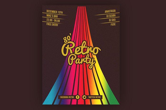 Retro Party Flyer