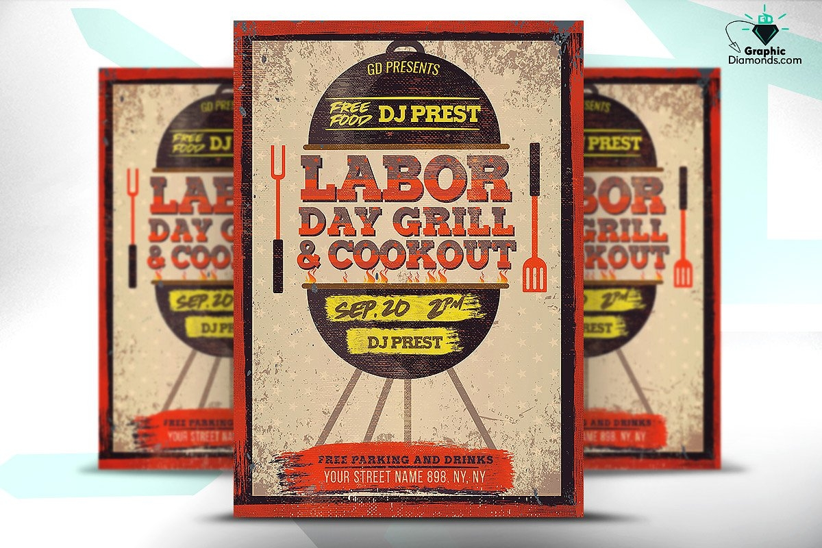 Labor Day Grill & Cookout Flyer
