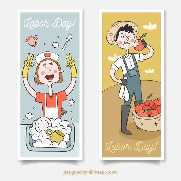 Labor Day Banners for Washers & Farmers