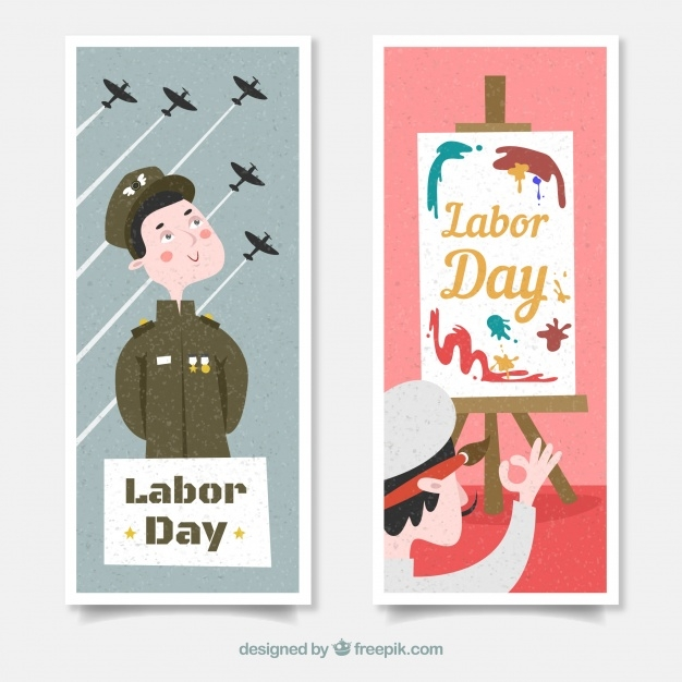 Labor Day Banners for Soldiers and Painters