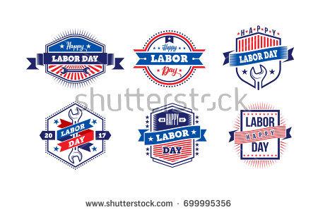 Happy Labor Day Emblem Design Style