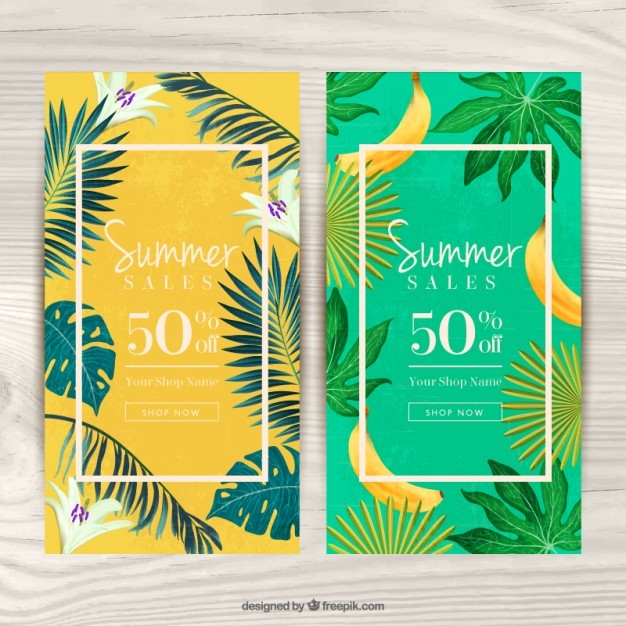 Summer Tropical Themed Flyer