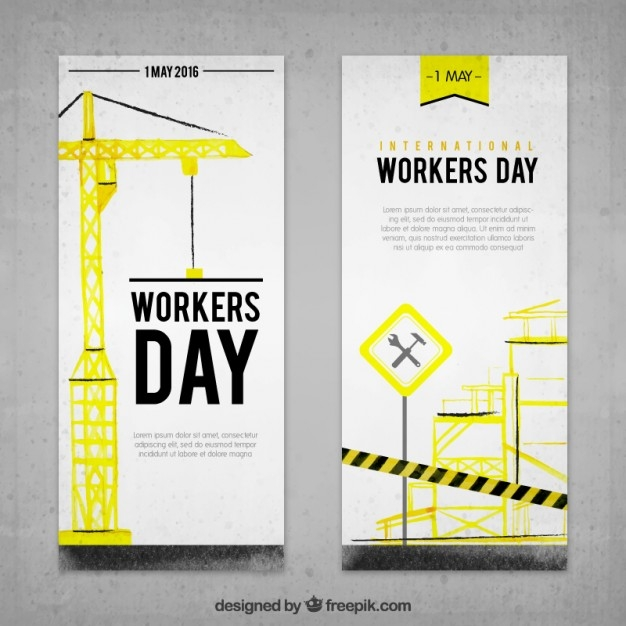 International Workers Day banner