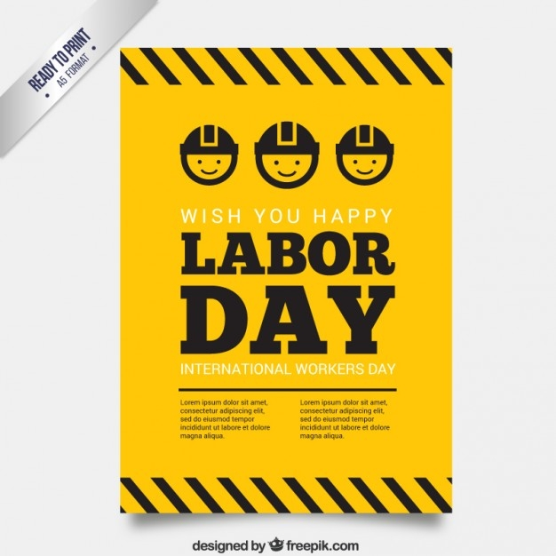 Yellow Labor Day Poster