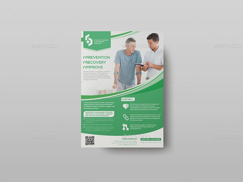 01_Physical Therapist -Flyer -Medical Template