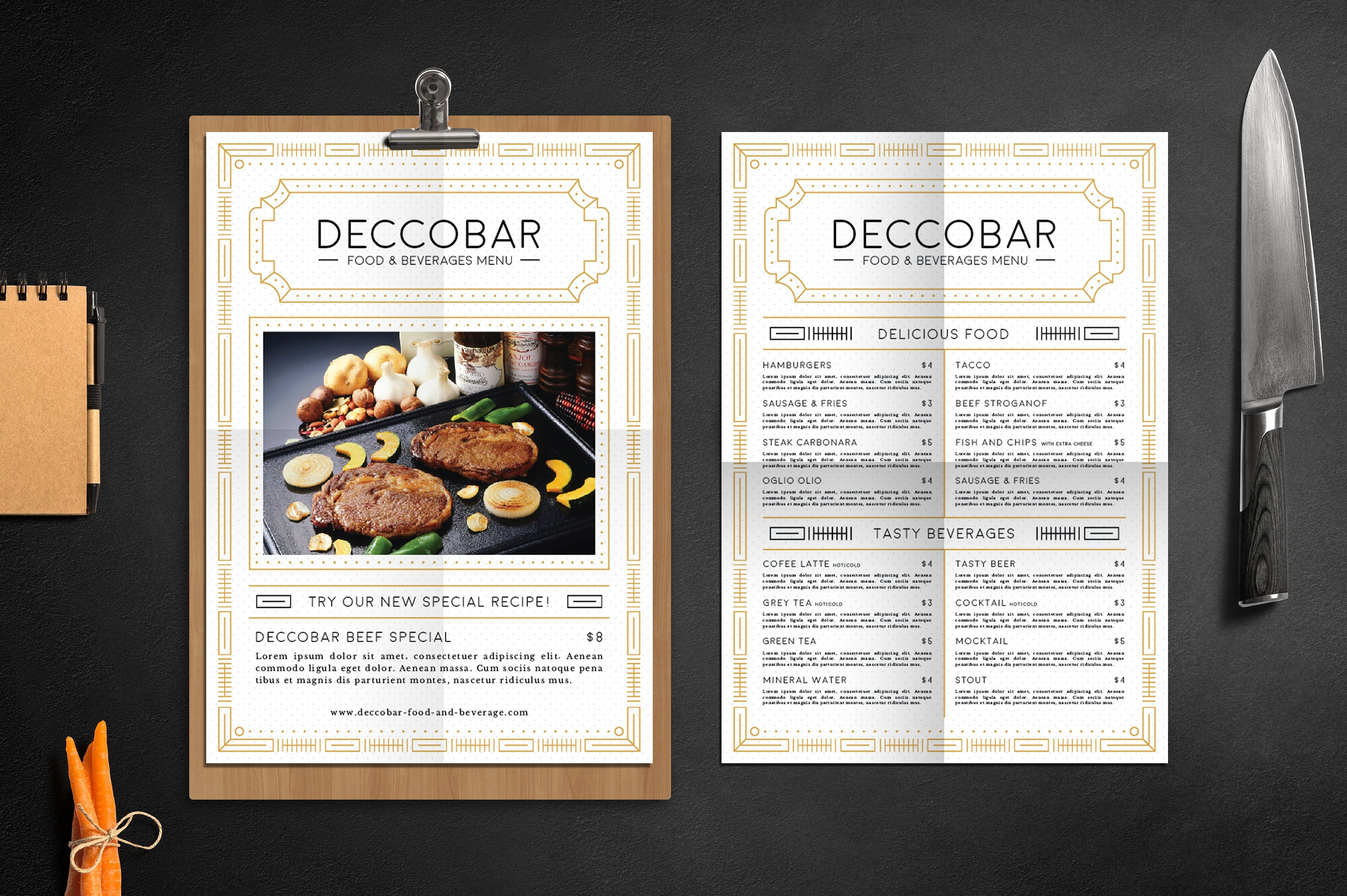 free 27 most appealing restaurant menu card designs in