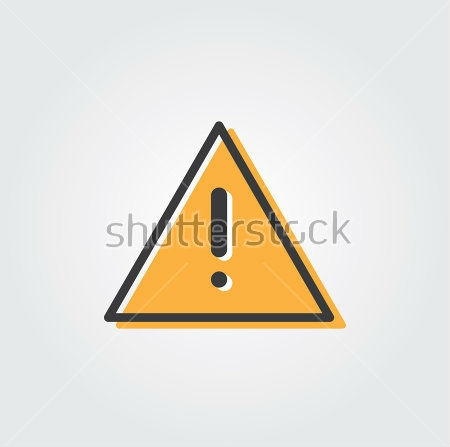 Alert Warning Icon Vector Design with Subdued Colors