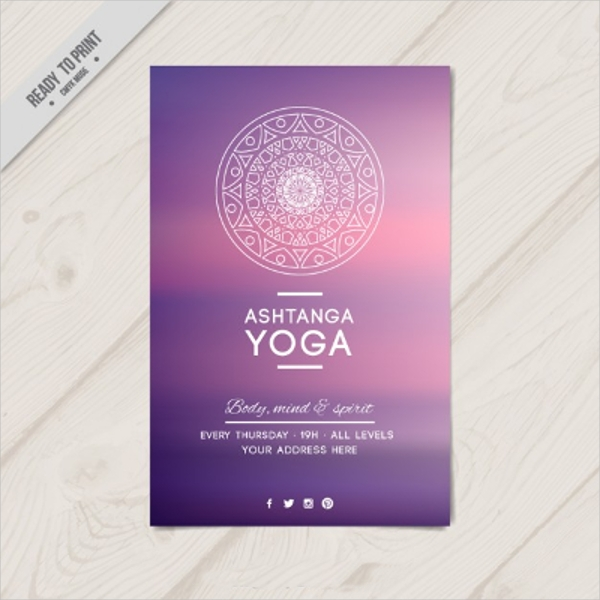 Ashtanga Yoga for the Body, Mind & Spirit Flyer Design