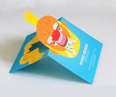 Ayako Okada Pop Up Business Cards