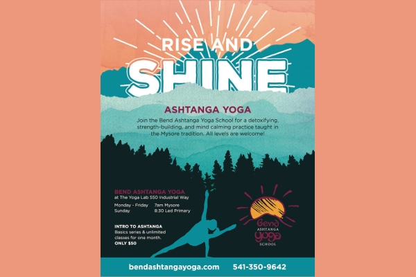 Bend Ashtanga Rise and Shine Yoga Flyer Designs