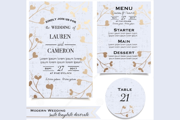 Blue Wedding Invitiation Card