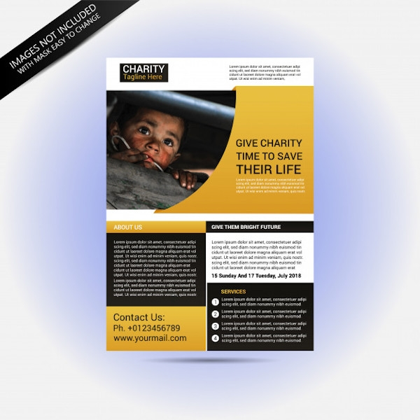 Charity Donation Flyer InDesign