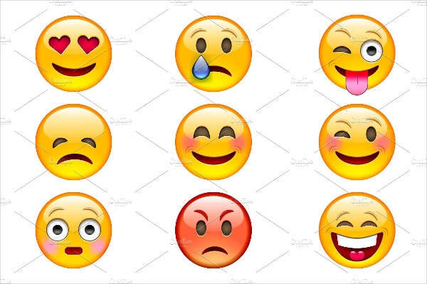 Colorful Emoji Vector Icons