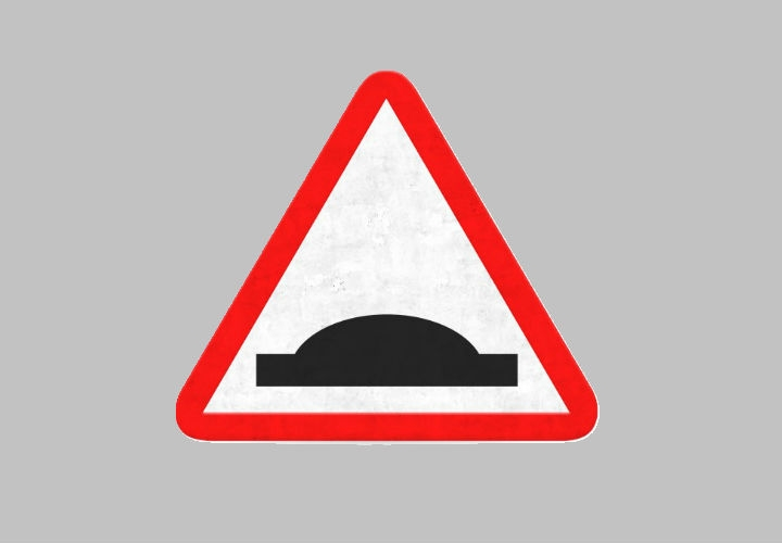 Danger Bump Road Sign Icon Design
