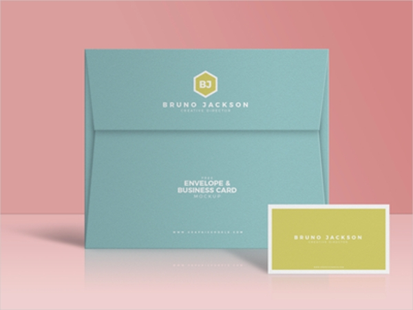 Envelope Business Card Mockup PSD Design