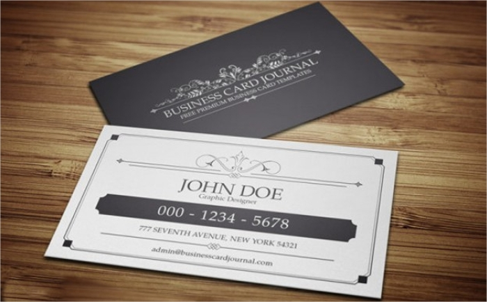 Free Vintage Business Card PSD Templates