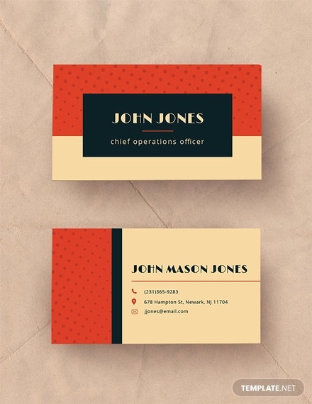free vintage business card template