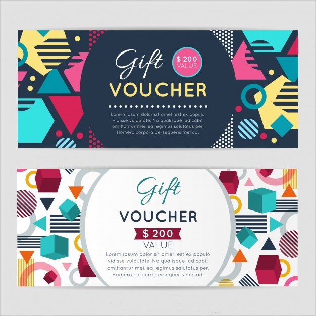 Geometric and Colourful Gift Voucher
