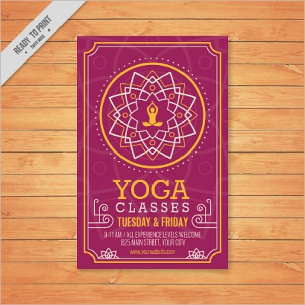 Geometric and Ornamental Yoga Flyer Design