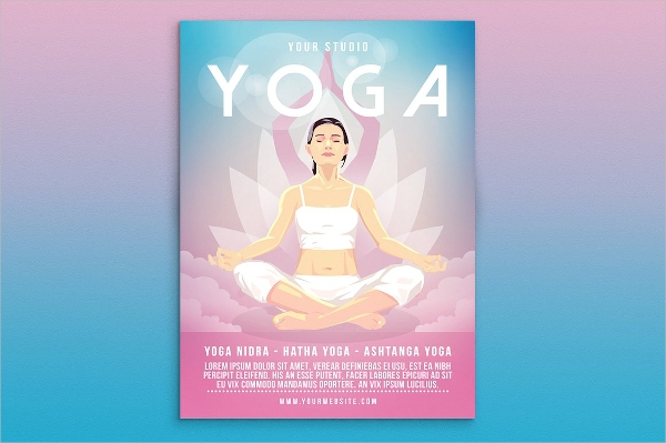 Gradient and Relaxing Yoga Flyer Design