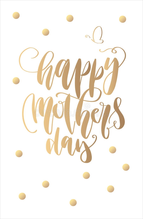 Hand lettering typography, Mother's Day Greeting Card