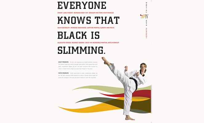 Karate & Martial Arts Flyer Design Template