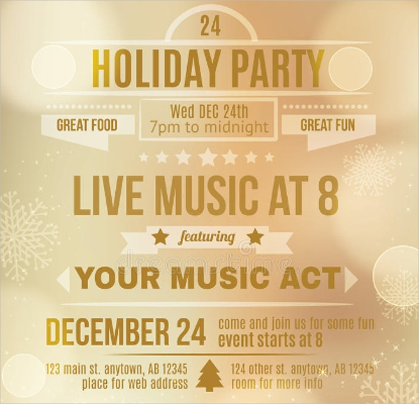 Live Music Holiday Party Flyer