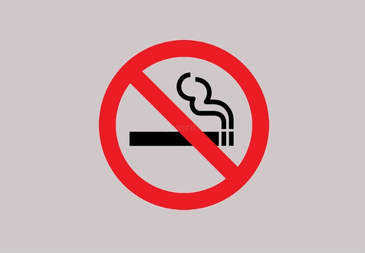 No Smoking Sign Icon Design