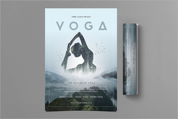Photo Manipulated Yoga Flyer Design