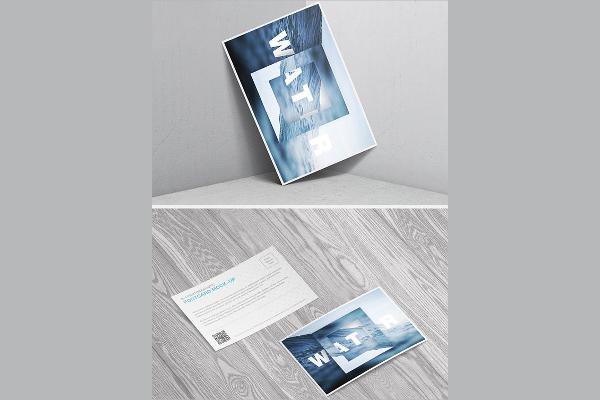 Postcard Invitation Mock up Design