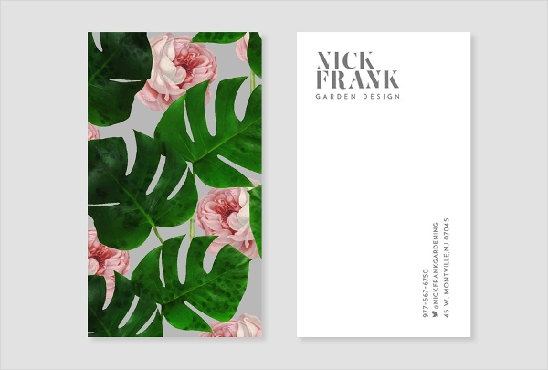 Rose Pattern Business Card Design