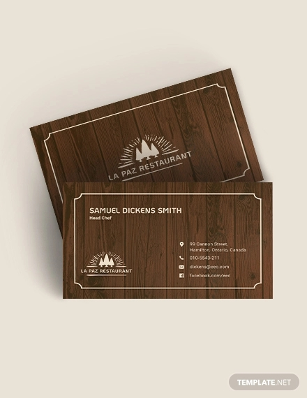 rustic business card