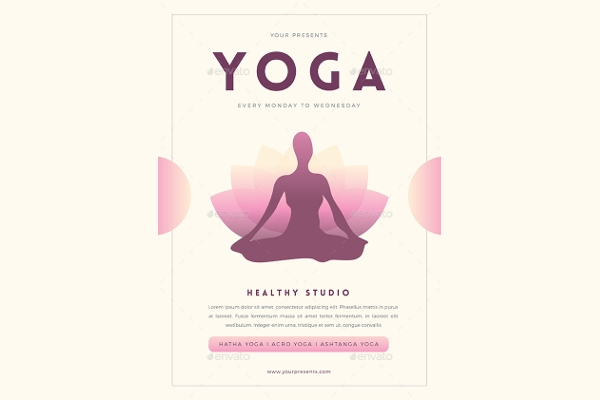 Simple Modern Yoga Studio Flyer Design