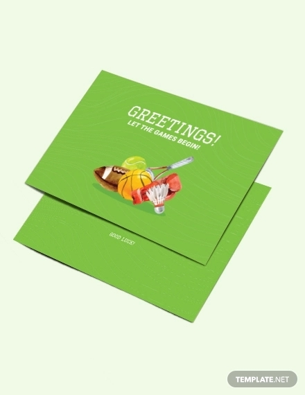 sports greeting card template