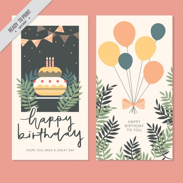 Subdued and Vintage Style Birthday Greeting CardSubdued and Vintage Style Birthday Greeting Card