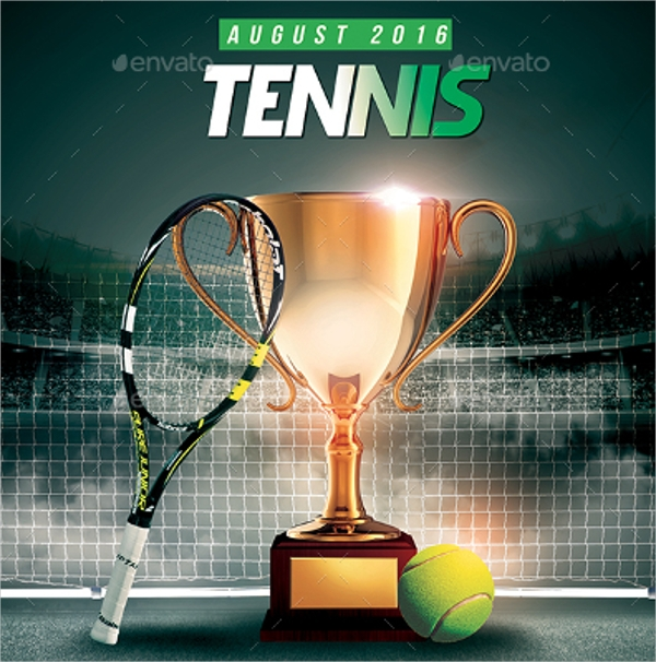 Tennis Championship Flyer Design