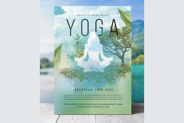 Yoga Flyer Design to Evoke Peacefulness and Relaxation