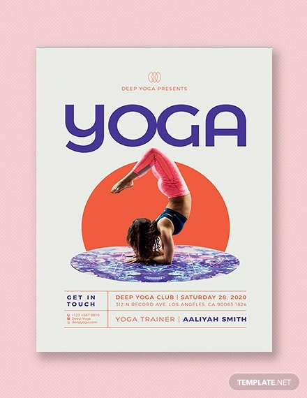 Free 20 Best Yoga Flyer Designs In Psd Ms Word Ai Vector Eps Indesign Ms Word Pages Publisher