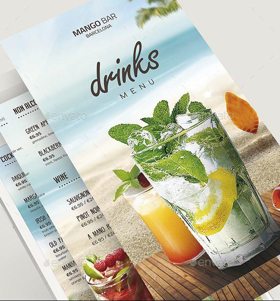 drinks menu preview