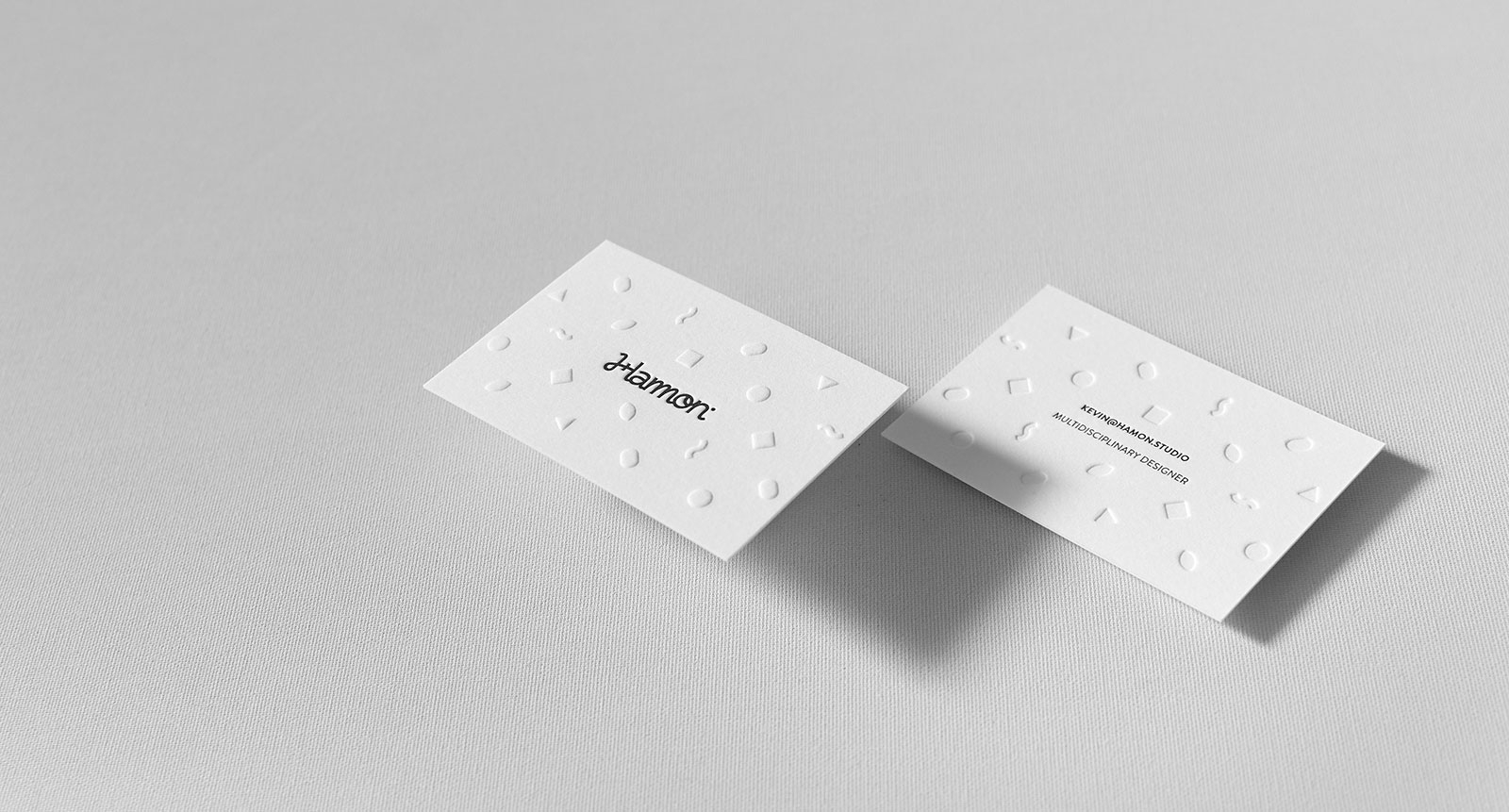 Kevin Hamon Embossed Letterpress Business Cards